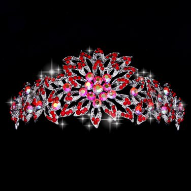 Beautiful Red Diamond wedding tiaras