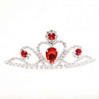 The red alloy wedding tiaras
