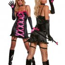 Sexy Black Acrylic Spandex Womens Demon Costume