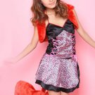 Pink Leopard V-neck Sexy Catwomen Costume