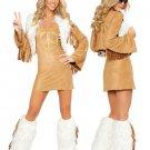 Fleshcolor Acrylic PU Womens Fantasy Costume