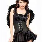 Sexy Devil Angel Black Costume Fancy Dress