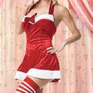 Red Christmas Halter Dress