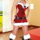 Red Ladies Velvet Sexy Christmas Holiday Costume
