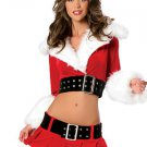 Velvet Christmas Foot Strap Belt Skirt Coat
