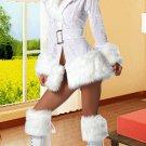White Ladies Velvet Christmas Holiday Costume