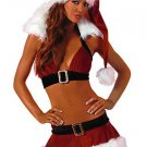 Spandex Christmas Tops Dress Hat And Crural Rings