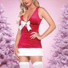 Sleeveless Deep V-neck Womens Christmas Costume