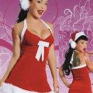 Fur Trimmed Halter Santa Sexy Christmas Costume