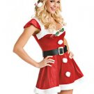 Holly-Berry Front Santa Sexy Christmas Costume
