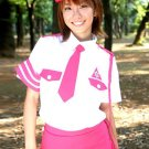 Pink White Polyester Women's Sexy Cop Costume