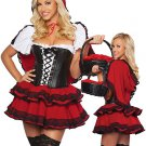 Hot Red Black White Ruffle Sexy Maid Costume