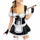 Attractive Black Off-the-shoulder Womens Maid Costume