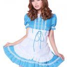 Polyester Puff Short Sleeves Sexy Maid Costume
