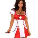 Sexy White And Red Womens Nurse Costume