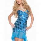 Blue Twinkling Strapless Sexy Mermaid Costume