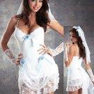 Sexy Adult Bridal  Lingerie Costume Fancy Dress