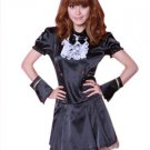 Black Polyester Short Sleeve Sexy Princess Costume