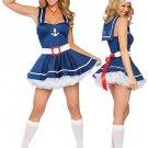 Elegant Blue Sexy Sailor Costume