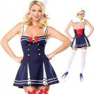 Beautiful Blue Sexy Sailor Costume