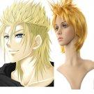 40cm Golden Kingdom Hearts Nylon Cosplay Wig
