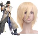 Light Gold 35cm Final Fantasy 13 Snow Nylon Cosplay Wig