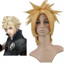 Gold Final Fantasy 7 Cloud Strife Cosplay Wig