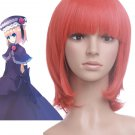 Red When They Cry 3 40cm Cosplay Wig