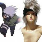Silver Naruto Hatake Kakashi Nylon Cosplay Wig