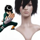 30cm Naruto Rock Lee Black Resistance Fibre Cosplay Wig