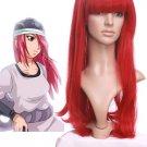 80cm Naruto Ayuya Wine Red Fibre Cosplay Wig For Women
