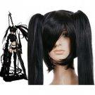 Vivid Black 120cm Black Rock Shooter Nylon Cosplay Wig