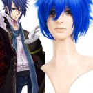 Blue 35cm VOCALOID kaito Nylon Cosplay Wig