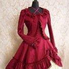 Classic Long Sleeves Ruffles Cotton Lolita Dress