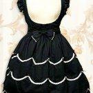 Cotton Black Scalloped Classic Lace Dress