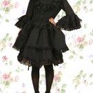 Cotton Black Ruffle Lace Lolita Dress