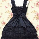 Cotton Black Lace Ruffles Classic Lolita Dress