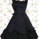 Cotton Black Sleeveless Classic Lolita Dress