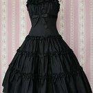 Cotton Black Short Sleeves Cotton Classic Lolita Dress