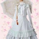 Light Blue Bow Ruffles Sweet Lolita Shirt Dress