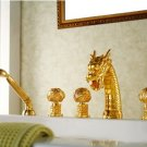 gold pvd clour  dragon bathtub faucet