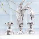Free shipping 3 PIECES   ROMAN TUB SWAN FAUCET BATHROOM WIDESPREAD SWAN SINK FAUCET