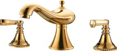 new design gold clour 8 inch widespread lav sink faucet deck mounted