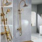 Gold  clour Rainfall  shower faucet  wall mounted shower faucet