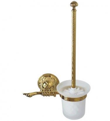 FREE SHIPPING new design GOLD Flowers toilet brush holder