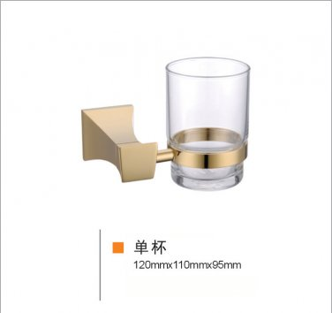 gold clour square design   single cup and tumbler holders