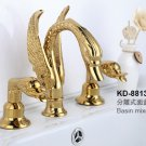 "ti-gold clour SWAN  FAUCET 8""  WIDESPREADY swan sink  FAUCET"