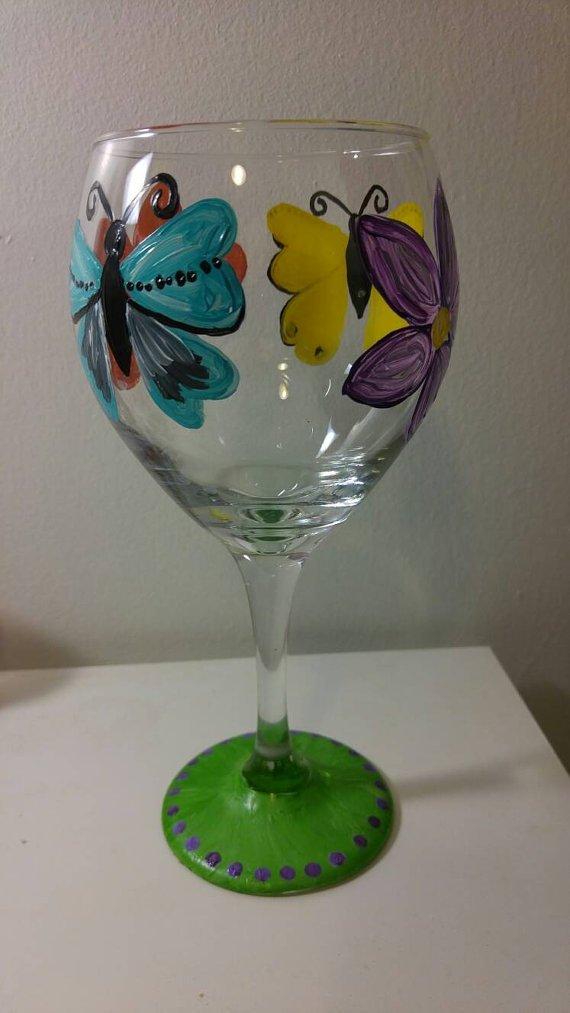 Personalized Handpainted Wine Glass