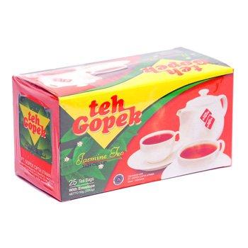 Gopek Teh Celup melati 50 gram jasmine tea bags with envelope 25-ct @ 2 gr