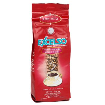 Excelso Robusta Halus factory ground 7.0 Oz (200 grams) pure coffee